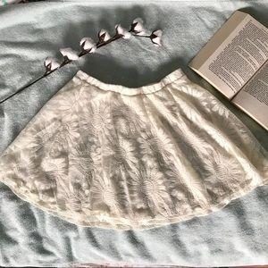 L.A. HEARTS floral white lace Pacsun skirt